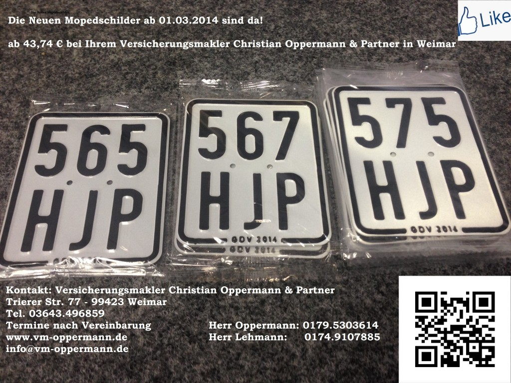 Moped 2014 - 2015 Versicherungsmakler Oppermann & Partner Weimar