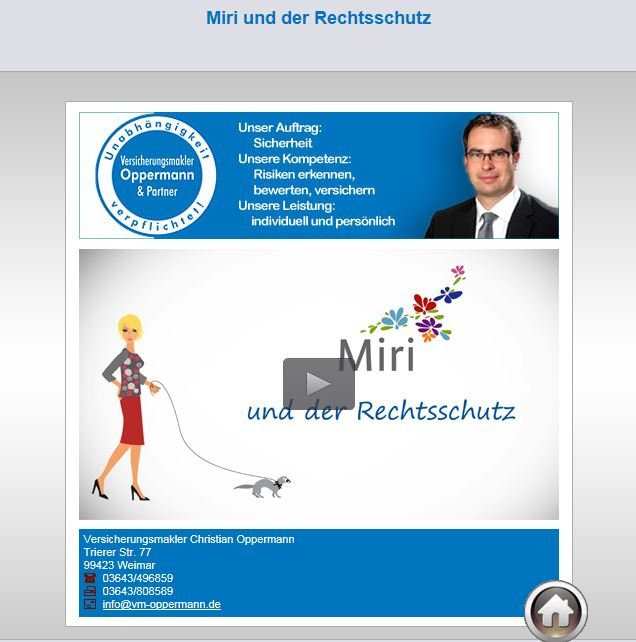 Miri uns Rechtschutzversicherung Versicherungsmakler Oppermann Weimar